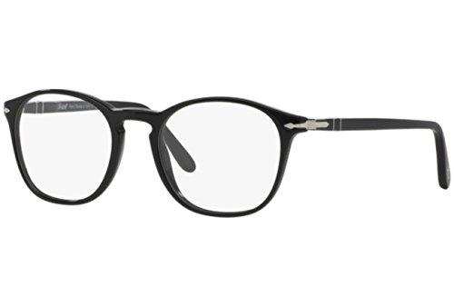 Persol Men's Eyeglasses 3007V 3007/V 95 Black/Silver Full Rim Optical Frame ()