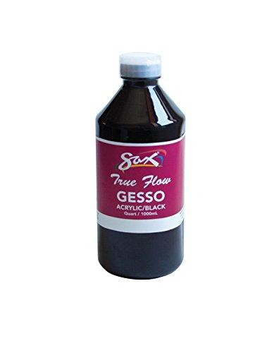 Sax 1439067 True Flow Non-Toxic Medium Body Acrylic Gesso, 1-Quart, Black