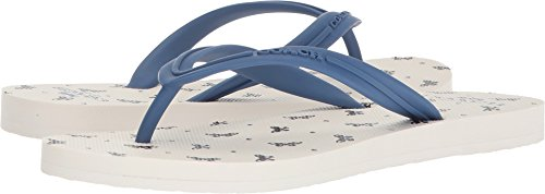 Coach Women's Cleo Flip-Flop Chalk Black 8 M US