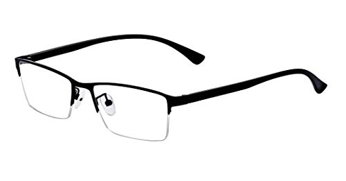 ALWAYSUV Myopia Shortsighted Glasses Nearsighted Rectangular Business Frame For Men Women (Strength: -3.0) by ALWAYSUV