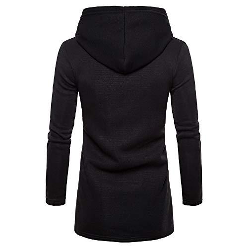 Unie Outwear Noir Pull Cardigan Fit Veste Manteau A Blouson Sanfashion Couleur Capuche Slim aqYfxPzwg