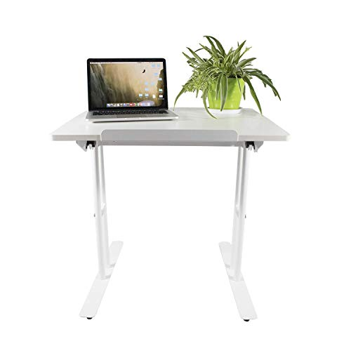 - Design Furniture Collection Notebook Computer Adjustable Table Standing Desk Writing Study Desk Home Office (White)