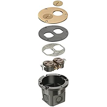 Arlington Flb3520mb 1 Round Cut In Floor Box Kit With
