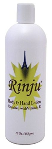 Rinju Body & Hand Lotion 16 Ounce Enriched With Vitamin-E (473ml) (6 Pack) (Vitamin Enriched Hand Lotion)