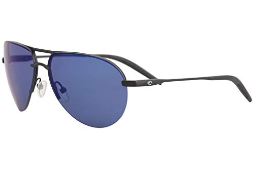 Costa Helo Matte Black Metal Frame Blue Mirror Lens Men's Sunglasses HLO11OBMP