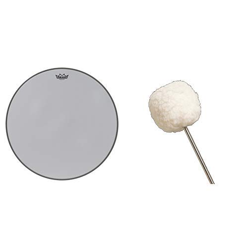 Remo Silentstroke Bass Drumhead, 22'' with Vater VBVB Vintage Bomber Bass Drum Beater by Remo