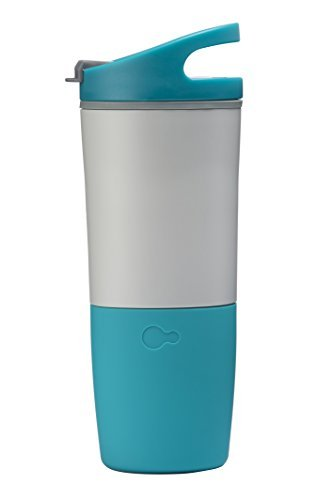 Summer Limited Edition Bottle (Limited Edition: Ozmo 16 Ounce Watertight Rechargeable Bluetooth Smart Cup BPA-Free with IOS/Android App and LED Indicator (Fusion))