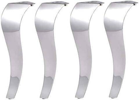 GCX- テーブルと椅子の足4×ステンレススチール家具の足浴室キャビネットテレビキャビネット表脚サポート脚フット 滑り止め (Size : 45cm)