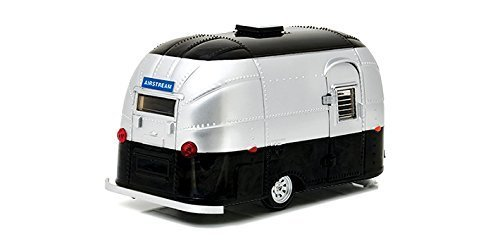 stream Bambi 16' Camper Trailer Black / Silver for 1/24 Scale Model Cars and Trucks 1/24 Diecast Model ()