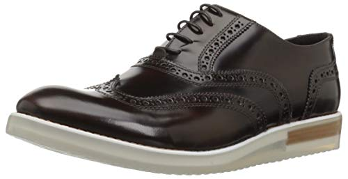 BUGATCHI Mens Lace Up Shoe Oxford, Marrone, 11 Medium US