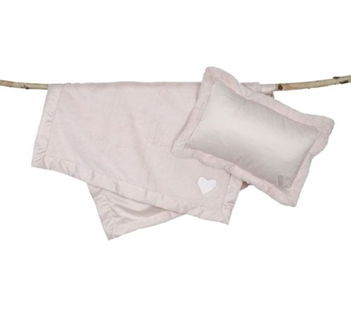 Barefoot Dreams Cuddle Nap to Go - Pink- Heart by Barefoot Dreams