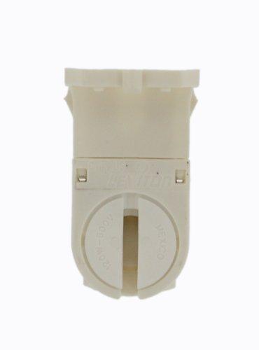 Leviton 23654-TWP Miniature Base, T5 Bi-Pin, Fluorescent Lampholder, White with Panel