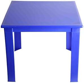Mesa plegable de plástico para niños, para el hogar, jardín, interior y exterior, mesa de café. azul azul