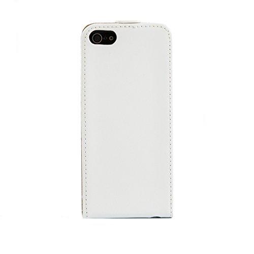 """iProtect housse de protection Flip Case en cuir synthétiquee Apple iPhone 6 Plus (5,5"""") en blanc"""