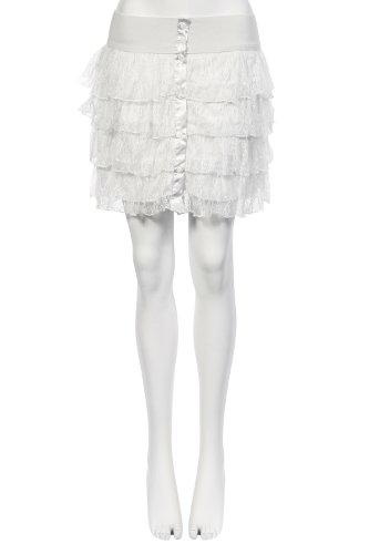 Volantée Mini Falda de encaje blanco