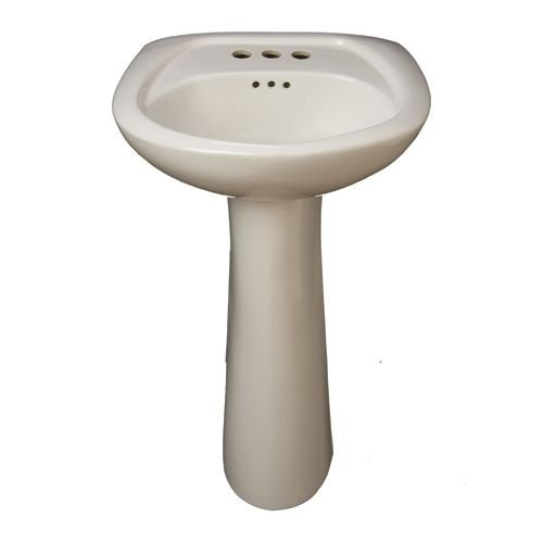 ProFlo PF1045 Bathroom Sink Pedestal Only, Biscuit well-wreapped