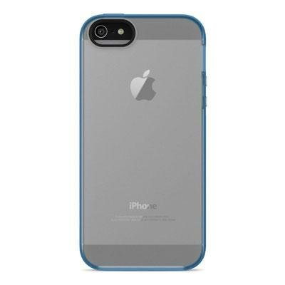 Belkin Grip Candy Sheer Case for iPhone 5 / 5S and iPhone SE (Blue and Smoke)]()