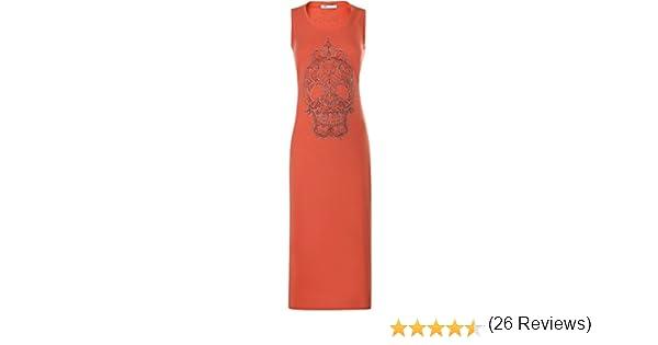 oodji Ultra Mujer Vestido Largo con Calavera de Pedrería: Amazon ...