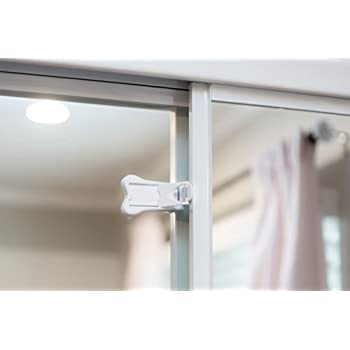 Sliding Door Locks for Baby Proofing | Keyless Child Safety Locks For Patio Closet  sc 1 st  Amazon.com & 4 Pack Child Safety Sliding Door/Window Lock for Closet Glass Doors ...