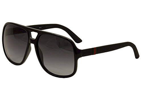 Gucci 1115/S M1V Black / Rubber 1115/S Square Aviator Sunglasses Lens - Gucci Black Square Sunglasses