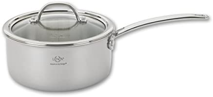Lenox L-12280 Tri-Ply Sauce Pan and Lid, 1.5-Quart, Silver