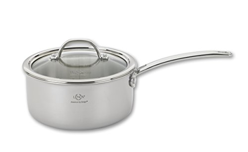 Lenox L-12281 Tri-Ply Sauce Pan and Lid, 2.0-Quart, Silver