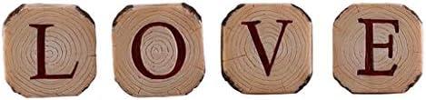 燭台ローソク足キャンドルホルダー 愛の手紙燭台ヨーロッパレトロ樹脂模造木目キャンドルライトディナーロマンチックなリビングルームの