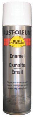 Rust-Oleum High Performance V2100 Rust Preventive Enamel Aerosol, Gloss White 20 oz. Can - Lot of 6