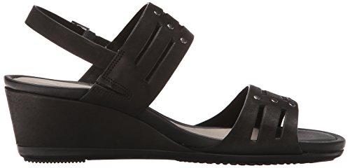 Ecco Womens Touch 45 Sandalo Con Zeppa Morbido Nero