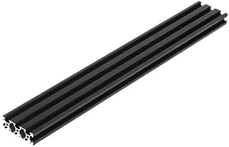 WITHOUT BRAND 1pc schwarz eloxiert 500 mm Aluminiumprofile Extrusion Rahmen for CNC-3D-Drucker Plasma Möbel Ständer (Farbe : Schwarz)