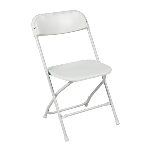 Best Choice Products 10 Commercial White Plastic Folding Chairs Stackable Wedding Party Event Chair (10-Folding Chairs)