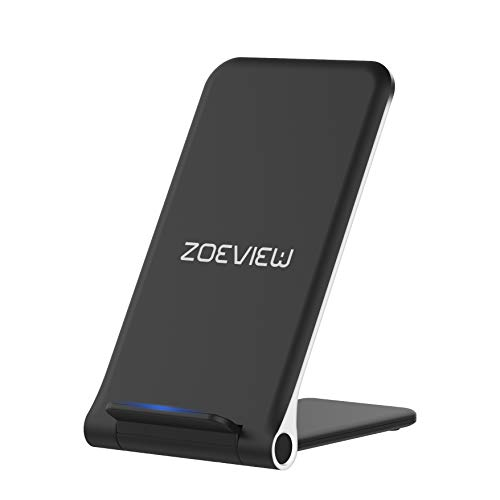 Wireless Charger,zoeview Qi 10W Fast Ultra-Thin Foldable Wireless Charging(No AC Adapter) for Samsung S9/S9+/S8/S7 Edge,7.5W for iPhone Xs MAX/XR/XS/X/8/8 Plus,5W All Qi-Enabled Phones (Pad Charging Nokia Wireless)
