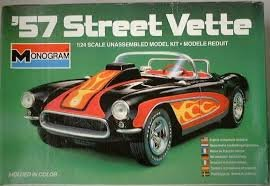 #2283 Monogram '57 Street Vette 1/24 Scale Plastic Model Kit, Needs Assembly