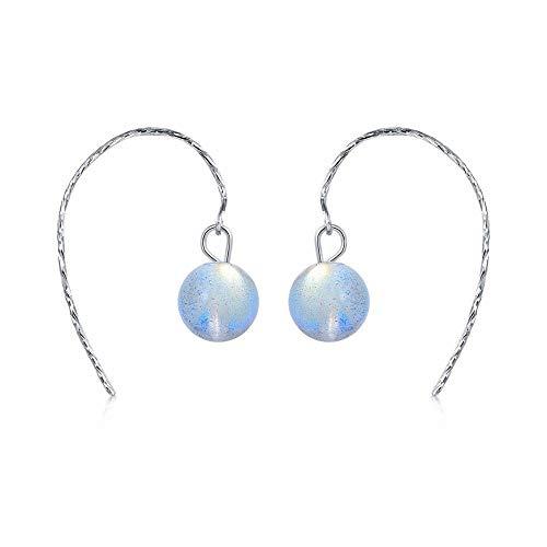 QMM earring Pendant earrings s925 Silver Fashion Drop Earrings Natural Moonlight Earrings for Women Gift Box Jewelry Girl Accessories Unique Party