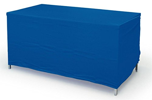 Displays2go Rectangular Convertible Tablecloth, 6 by 8-Inch, Royal Blue Polyester