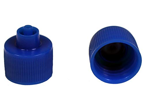 Creative Hobbies Luer Lock Bottle Cap, 20-410 Threads Fit 1, 2, 4 Ounce Bottles, Blue Plastic, Pack of 12 ()