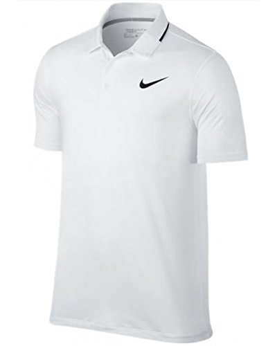NIKE Dry Solid Men's Golf Polo – White (Large) – DiZiSports Store