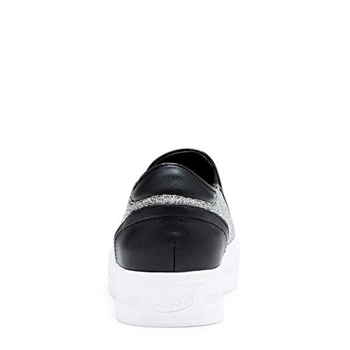 zapatos de suela gruesa en el otoño/Zapatos de color liso con elástico y ocio/Plana zapatos de mujer A