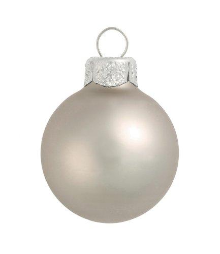 (12ct Matte Silver Smoke Glass Ball Christmas Ornaments 2.75