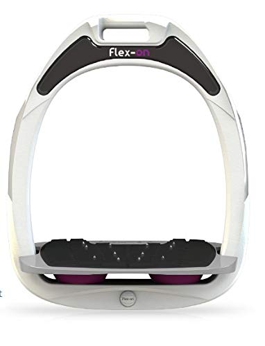 【 限定】フレクソン(Flex-On) 鐙 ガンマセーフオン GAMME SAFE-ON Mixed ultra-grip フレームカラー: ホワイト フットベッドカラー: グレー エラストマー: プラム 87069   B07KMS3PPN