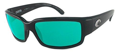 Mirror Wave 580 Glass (Costa Del Mar Sunglasses - Caballito- Glass / Frame: Shiny Black Lens: Polarized Green Mirror Wave 580 Glass)