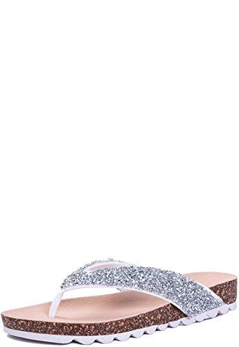 Sko Flip Skinn Sort Sandaler Toe Thong Glitter Flate Flop Spylovebuy Stil Kvinners SqZIF8w4
