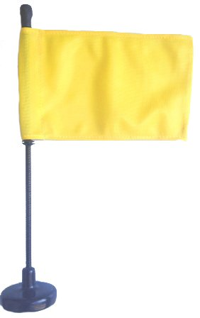 Yellow Car Flag With Magnetic Base And Flexible Flag