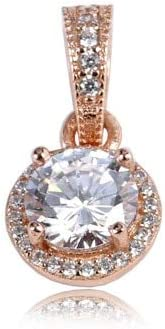 Calvas 100/% 925 Sterling Silver Charm Bead Mom Heart Flower Rose Gold Cystal Pendant Charms Fit DKG Original Bracelets DIY Jewelry Color: 16