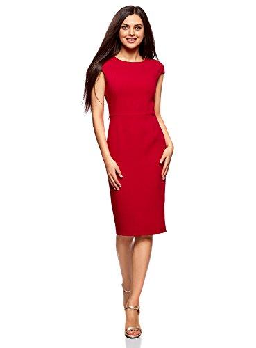 Ultra Cerniera Dietro Abito Rosso con oodji Tubino 4500n Donna dYgAxdqz