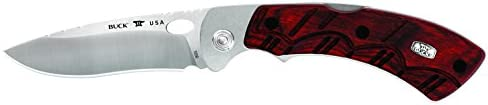 Buck Knives 0556RWS Open Season Skinner Folding Knife with Sheath, Rosewood Handle, 3-3 4 420HC Blade