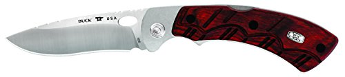 Buck Knives 0556RWS Open Season Skinner Folding Knife with Sheath, Rosewood