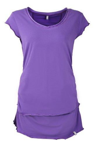 Be! Mama - Camiseta de maternidad para mujer/maternidad de color púrpura de talla l