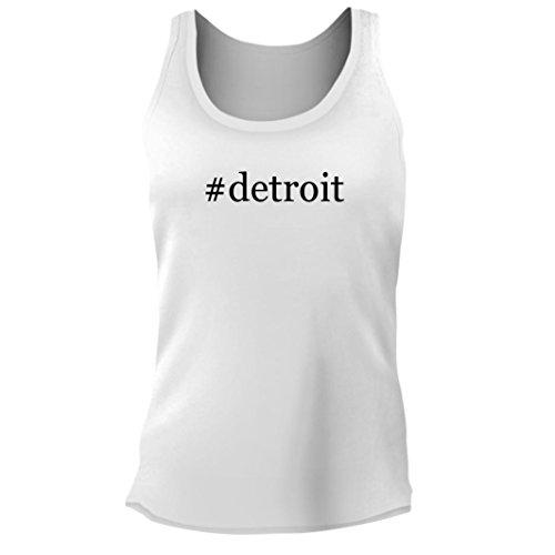 Tracy Gifts  Detroit   Womens Junior Cut Hashtag Adult Tank Top  White  Medium