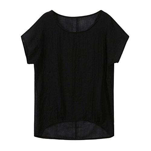 Beautyfine Big Promotion! Women Lightweight Solid T-Shirt, Girls Thin Chill Short Sleeve Blouse